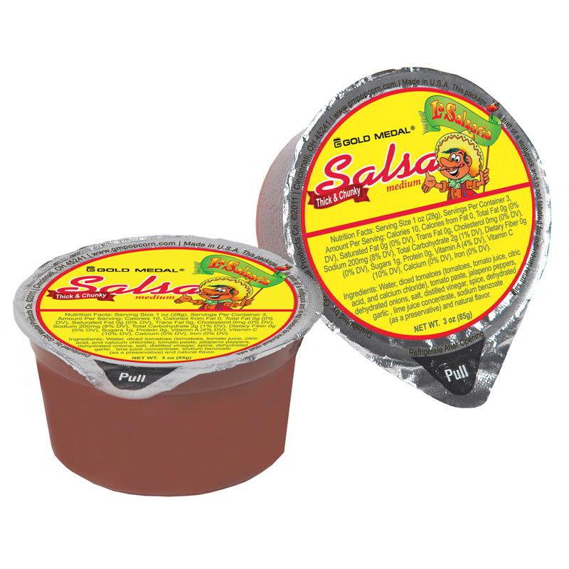 Gold Medal 5268 Medium La SalsaRia Concession Pak Salsa - (30) 3-oz Cups