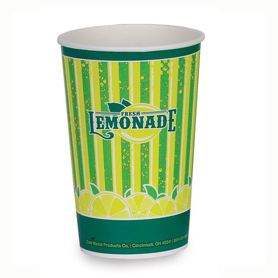 Gold Medal 5304 16 oz Lemonade Special Print Disposable Cups, 1,000/Case