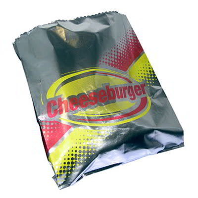 Gold Medal 5437 Disposable Cheeseburger Foil Hot Dog Sandwich Bags, 1,000/Case