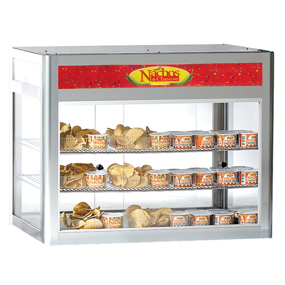 "Gold Medal 5512-00-000 29.5"" Countertop Heated Nacho Warmer w/ 2 Display Shelves, 120v"