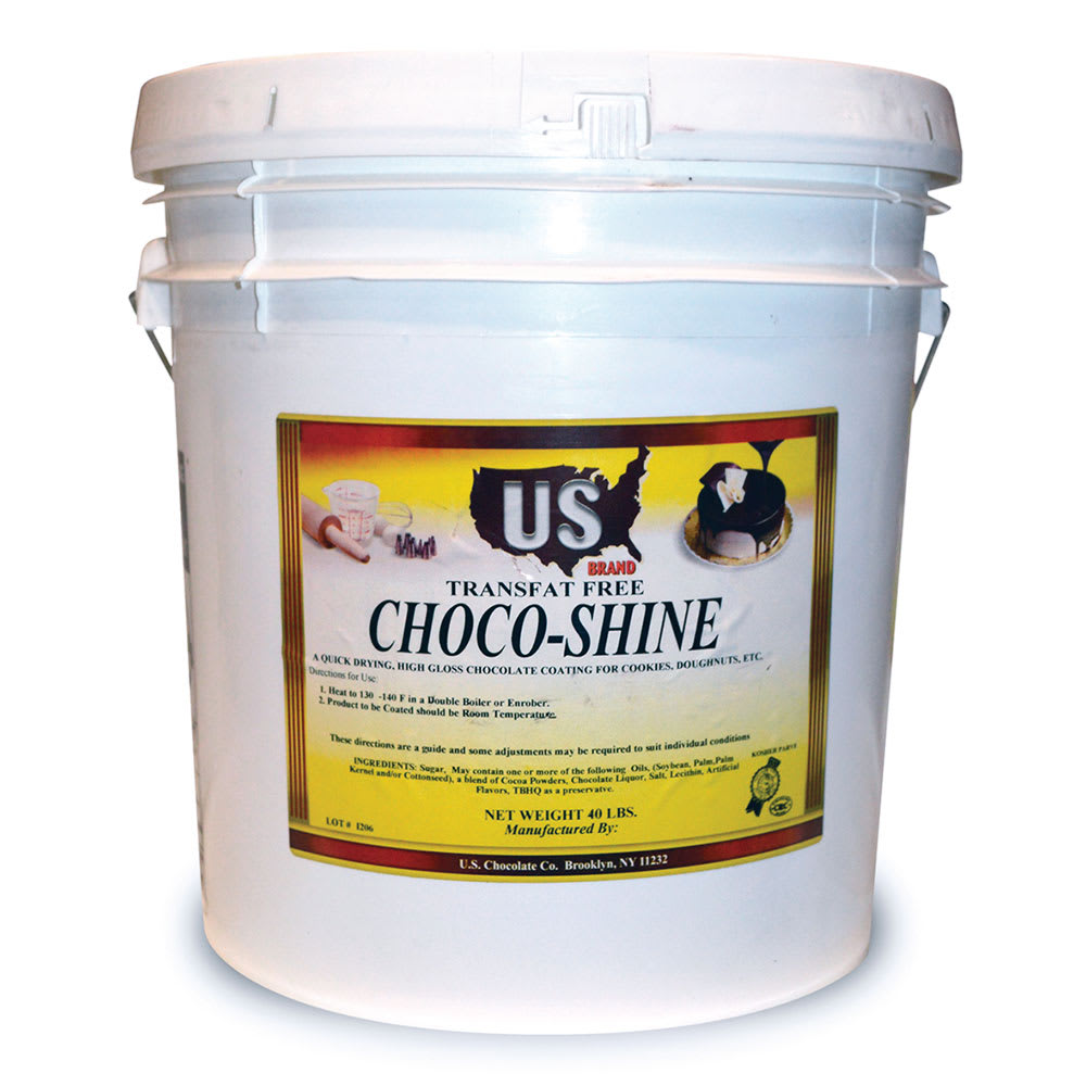 Gold Medal 5519 35 lb Pail Chocolate Dip Coating for Donuts & Pastries