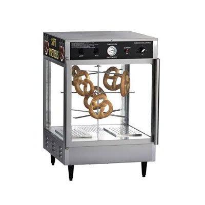 """Gold Medal 5550PRD 23"""" Countertop Merchandiser w/ 70-Jumbo Pretzel Capacity & 2-Pass Thru Doors"""