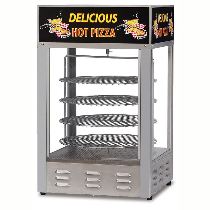 """Gold Medal 5551PZ 18"""" Countertop Merchandiser w/ (4) 14"""" Pizza Capacity & 1-Door"""