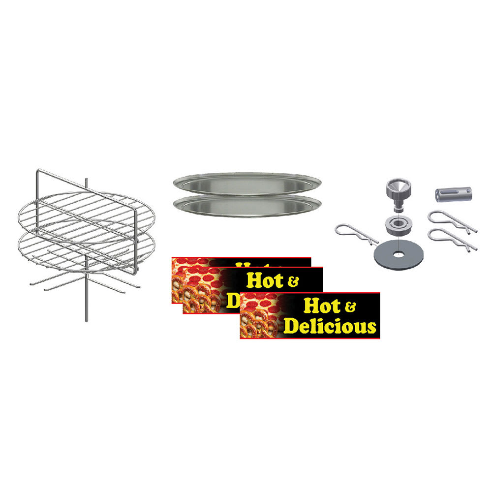 Gold Medal 5553-005 Small Combo Pizza & Pretzel Cabinet Kit for 5550-00 & 5550-01