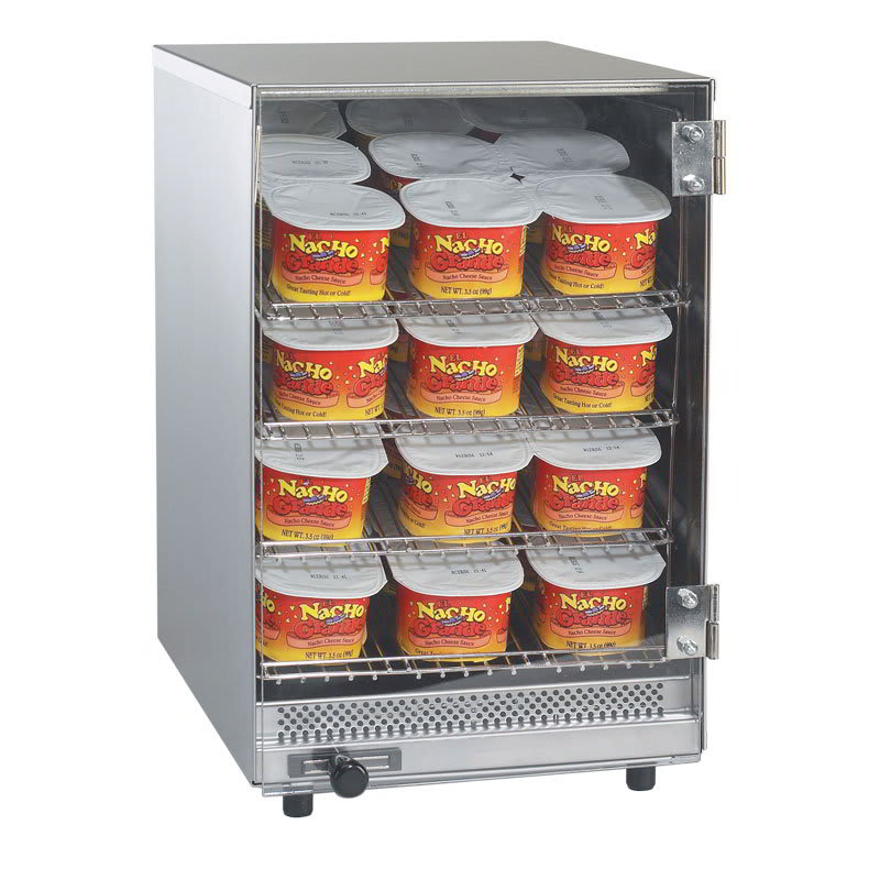 """Gold Medal 5582 9"""" Compact Portion Pak Warmer w/ 36-Cup Capacity & 4-Shelves"""