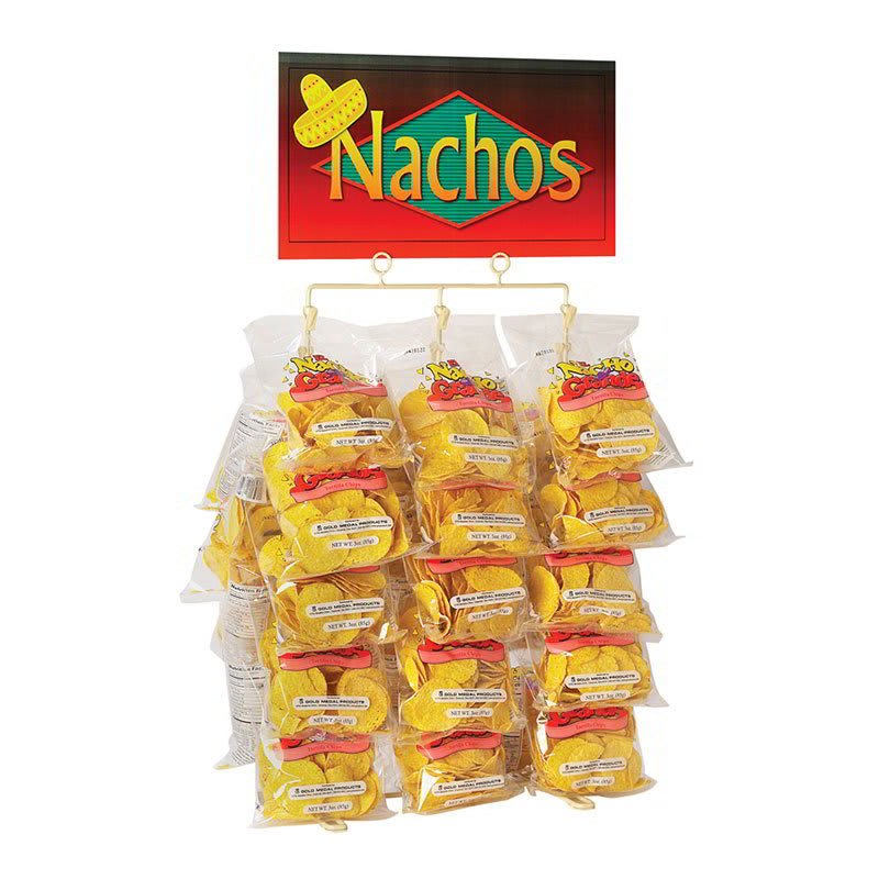 Gold Medal 5585 Display Rack for El Nacho Grande Chips Holds 30 Bags w/ Suction Feet