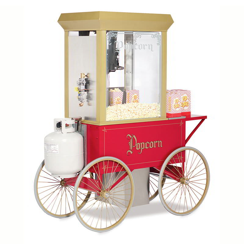 Gold Medal 5908GGT G-Whiz Popcorn Machine w/ 12-oz Kettle & LP Gas Fired