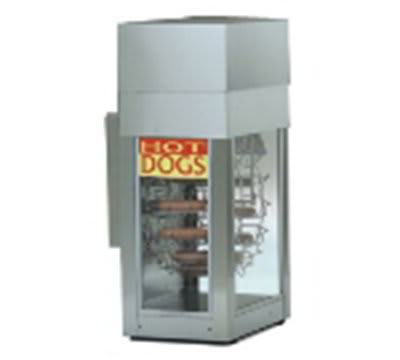 Gold Medal 8104 Dogeroo Rotisserie Cooker w/ 56 Hot Dog & 40 Bun Capacity, 120v