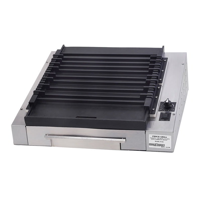 Gold Medal 8162 Small Slanted Grilla Reciprocating Grill w/ EZ Kleen Flat Surface