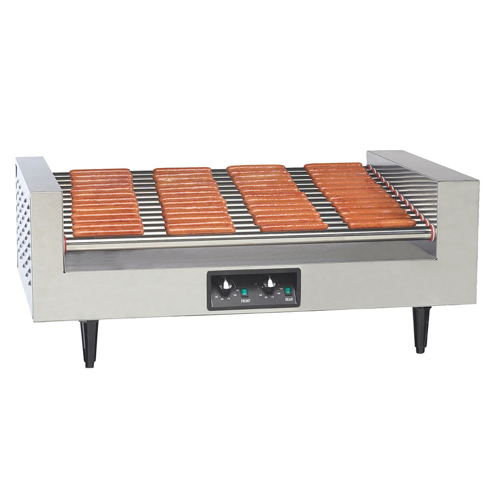 Gold Medal 8225 Hot Diggity Grill w/ 14-Rollers & 78-Hot Dog Capacity, Back Counter