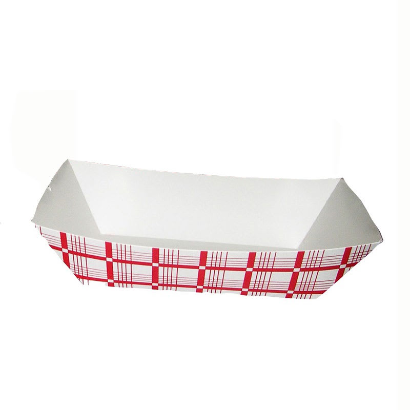 Gold Medal 9102 Disposable Red & White Food Tray, 1,000/Case