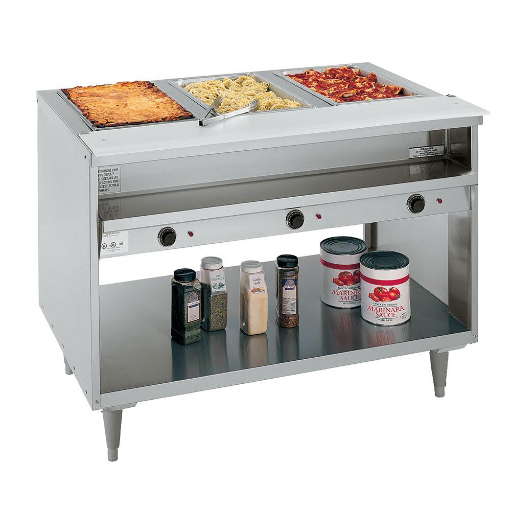 """Randell 3513-240 48"""" Hot Food Table w/ 3-Wells - 8"""" Cutting Board, 240v/1ph"""