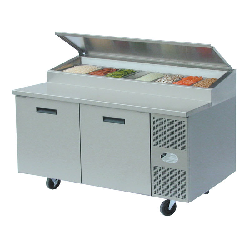 "Randell 8260N 60"" Pizza Prep Table w/ Refrigerated Base, 115v"