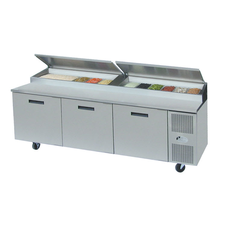 "Randell 8395N 95"" Pizza Prep Table w/ Refrigerated Base, 115v"