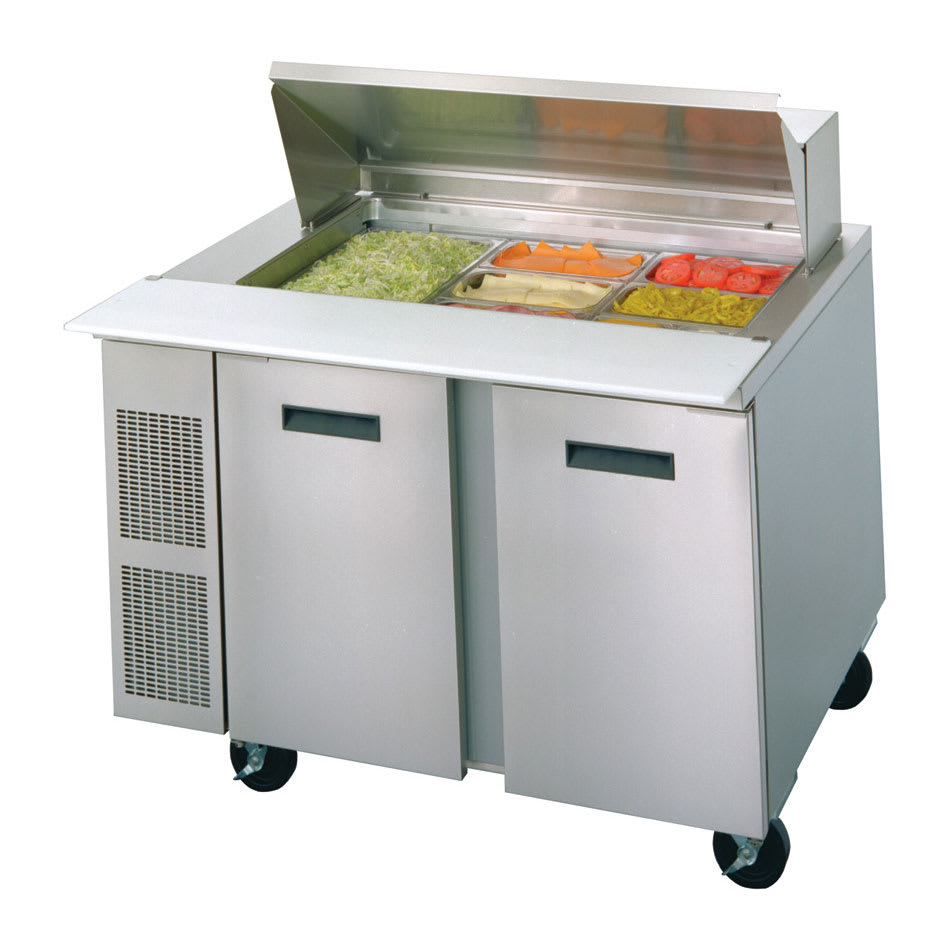"Randell 9030K-7 48"" Sandwich/Salad Prep Table w/ Refrigerated Base, 115v"