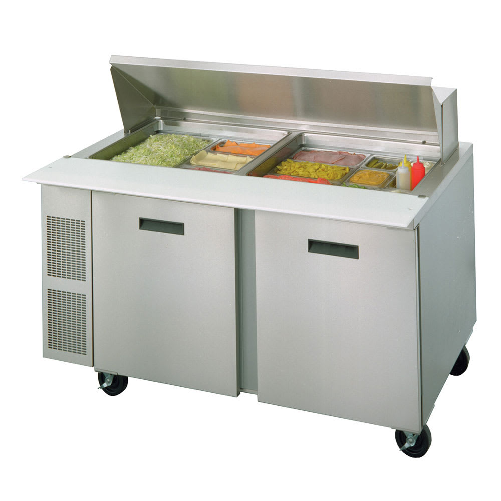 "Randell 9040K-7 60"" Sandwich/Salad Prep Table w/ Refrigerated Base, 115v"