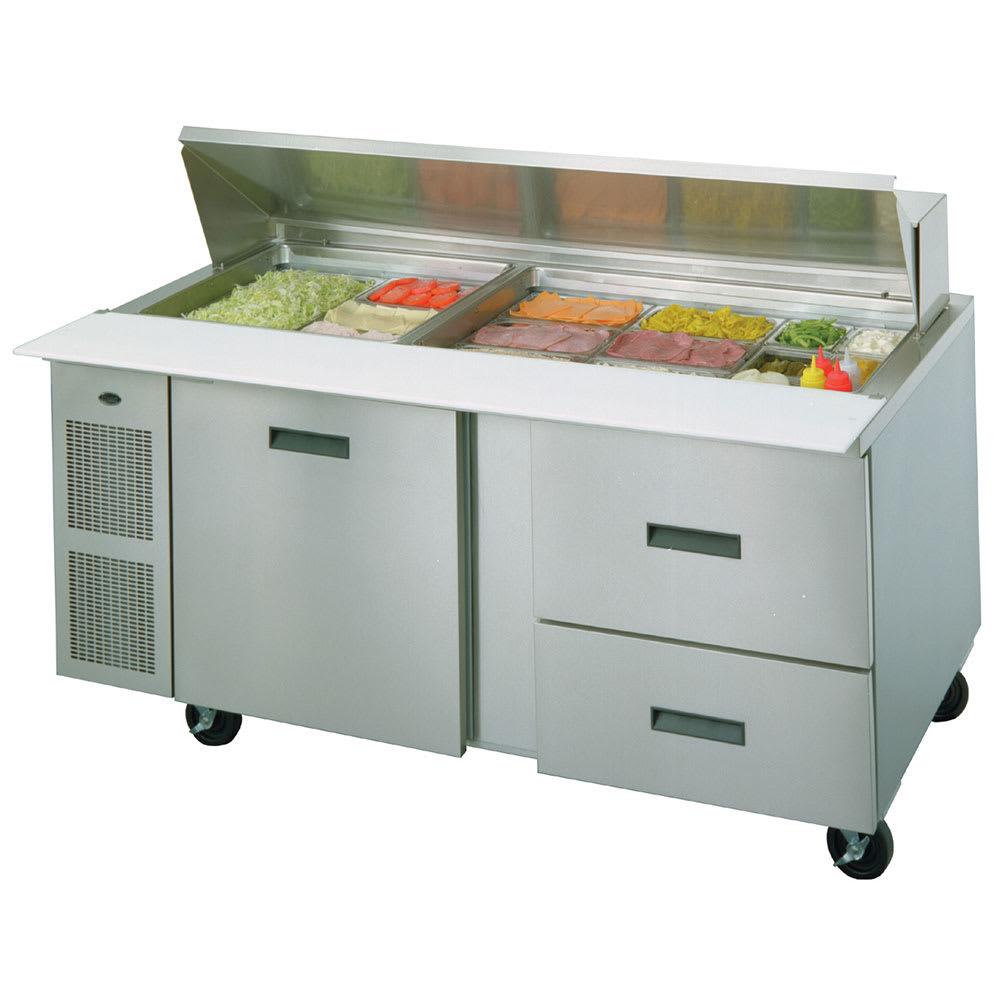 "Randell 9045K-7 72"" Sandwich/Salad Prep Table w/ Refrigerated Base, 115v"