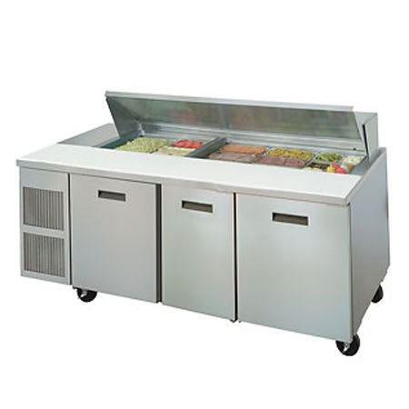 "Randell 9050K-7 84"" Sandwich/Salad Prep Table w/ Refrigerated Base, 115v"