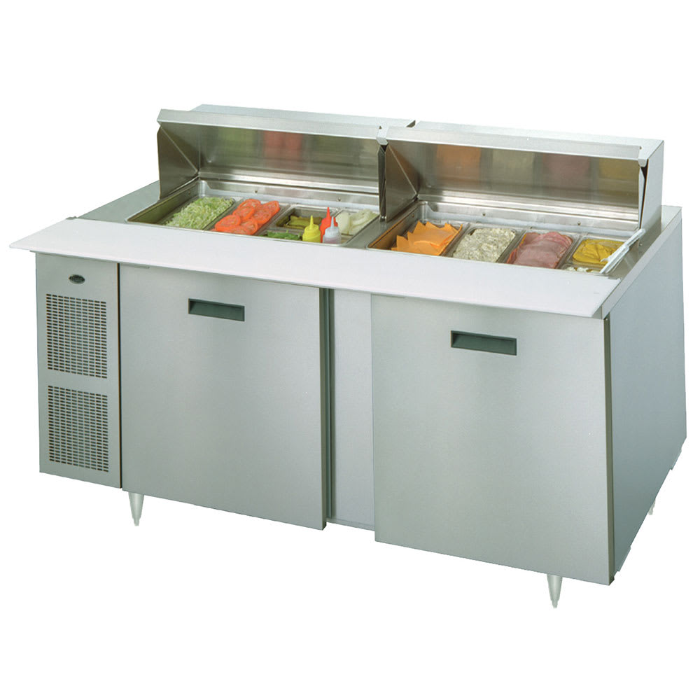 "Randell 9230-32-7 72"" Sandwich/Salad Prep Table w/ Refrigerated Base, 115v"