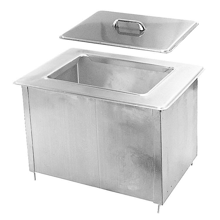 "Randell 9510IC 40-lb Drop-In Ice Bin - 21"" x 14.5"", Stainless"