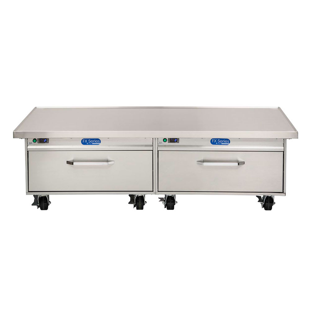 "Randell FX-2CSRE-290 76"" Chef Base w/ (2) Drawers - 115v"