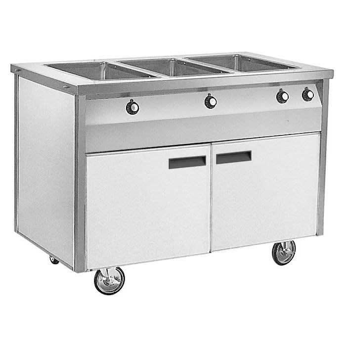 "Randell RANHTD-4S 60"" Hot Food Table w/ 4 Wells - (2) Sliding Doors, 120v"