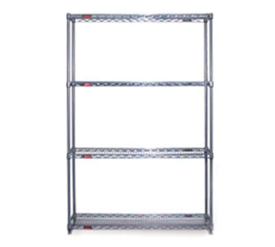 "Eagle Group S4-74-2472C Wire Shelving Starter Unit - (4) 24x72"" Shelf, 74"" Post, Chrome"