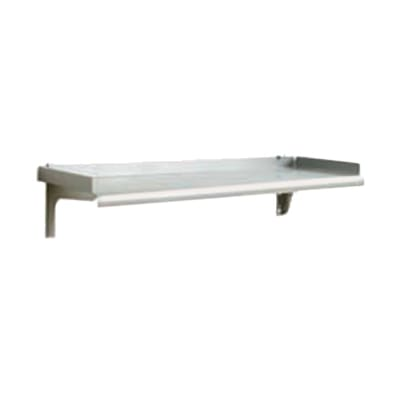 """Eagle Group SWS1224-14/3-X 12x24"""" Wall Shelf - Rolled Front, 14/304 Stainless"""