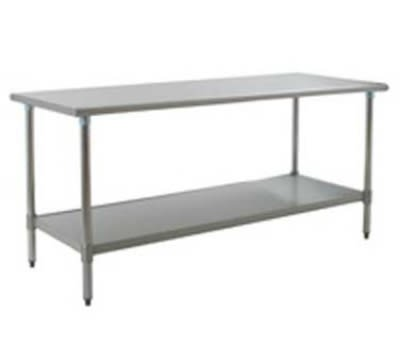 "Eagle Group T3072SB-X 72x30"" Work Table - 16/430 Top, 18-Gauge Stainless Undershelf"