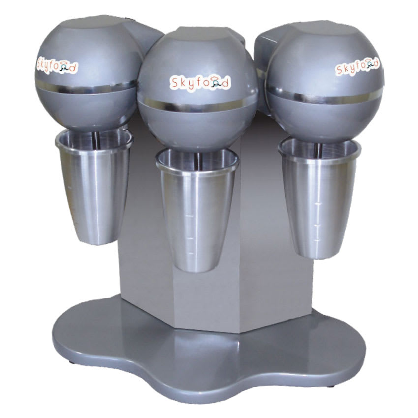 Skyfood BMS-3 3-Head Drink Mixer w/ (3) 27-oz Stainless Mixing Cups, 110 V