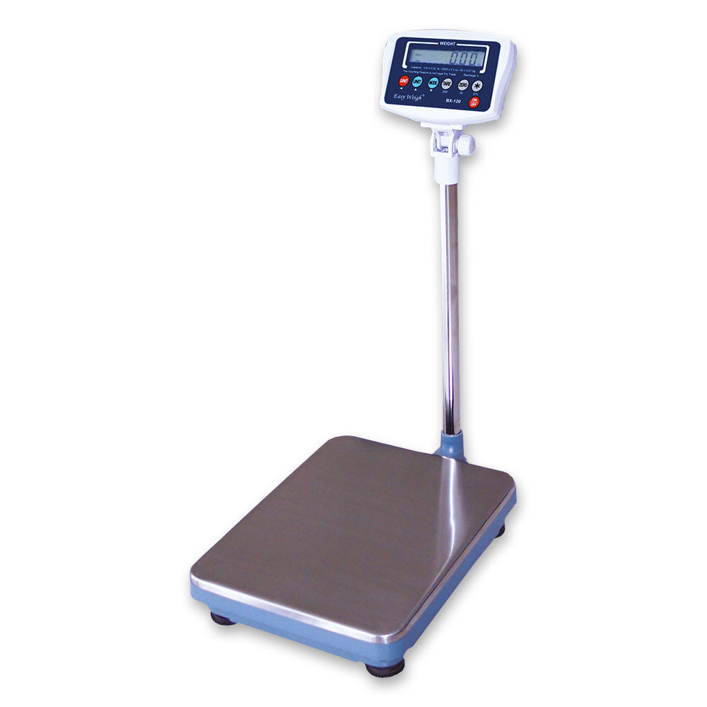 Skyfood BX-120PLUS Platform Receiving Scale w/ 120 lb Capacity, Tilt Head, 120 V