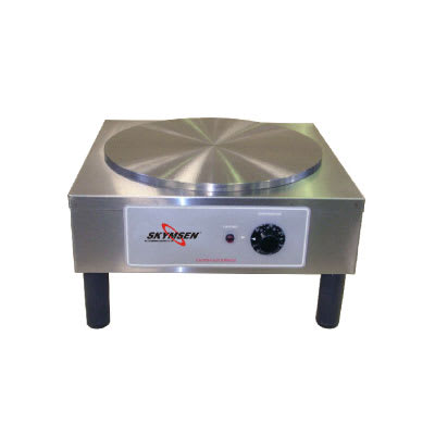 """Skyfood CCMS 110V 14""""  Round Crepe Cooking Machine, Stainless, 110v"""