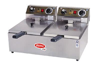 Skyfood EF102-2 Countertop Electric Fryer - (2) 33-lb Vat, 220v/1ph