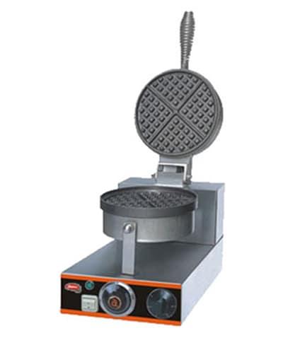 Skyfood EHF-1 Single Round Waffle Baker w/ Aluminum Grid, 20 Per Hour, 110 V