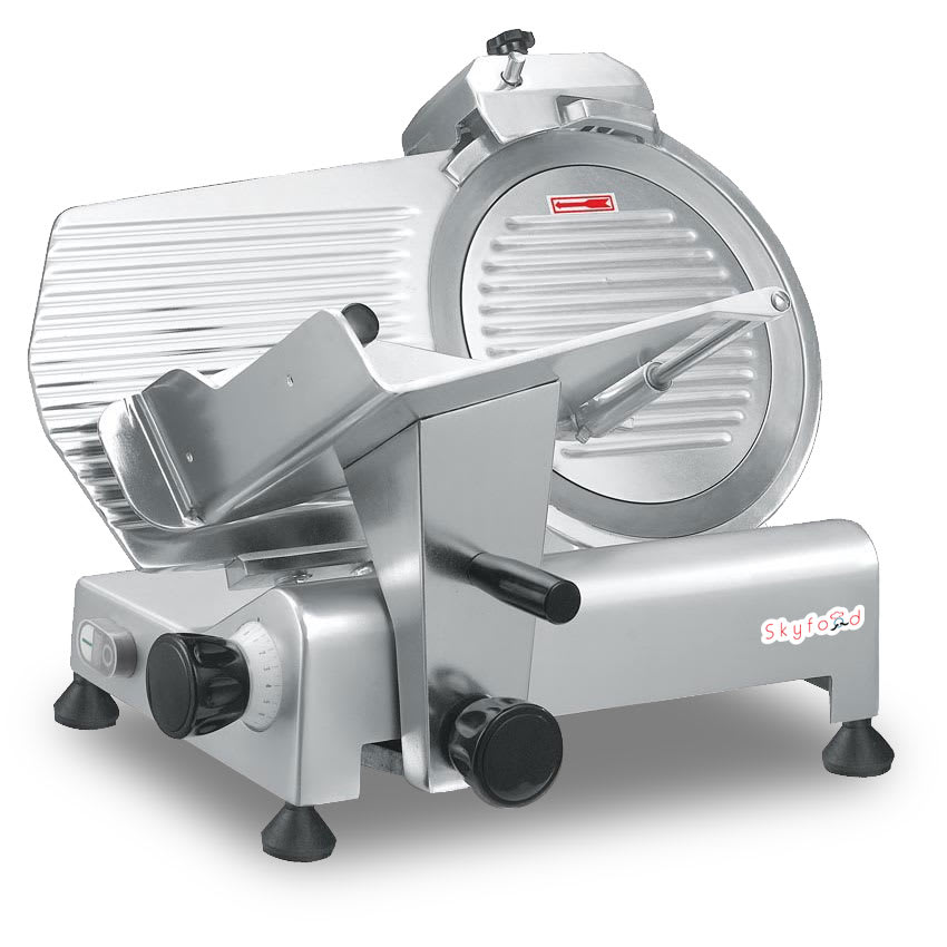 "Skyfood GL300 Compact Economy Slicer w/ Gravity Feed, 12"" Diam, .5"" Thick Slice"
