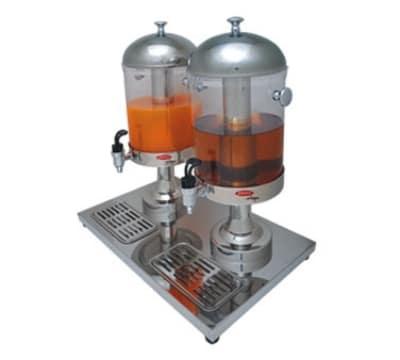 Skyfood JD-2 Beverage Dispenser, (2) 8-qt Clear Bowl, 2-Single Faucet, Stainless