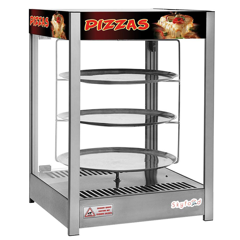 "Skyfood PD3TS18 22"" Rotating Heated Pizza Merchandiser w/ 3 Levels, 120v"