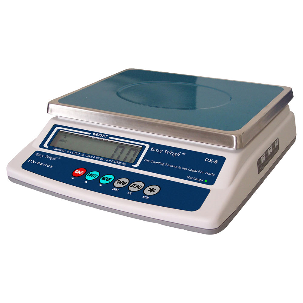 Skyfood PX-60 60-lb Portion Control Scale w/ LCD Display, Stainless Platform