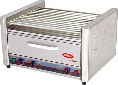 Skyfood RG-11BW 30 Hot Dog Roller Grill w/Bun Storage - Flat Top, 110v