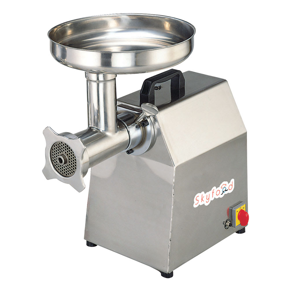 Skyfood SMG22 Countertop Meat Grinder w/ 520-lb/hr Capacity, Stainless, 115v