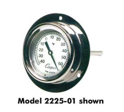"""Cooper 2255-02-5 2"""" Thermometer w/ 9"""" Stem, 0 To 220-Degrees F"""