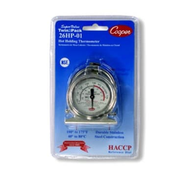 Cooper 26HP-01-2 Holding Proofing Cabinet Thermometer, 100 To 175-Degrees F