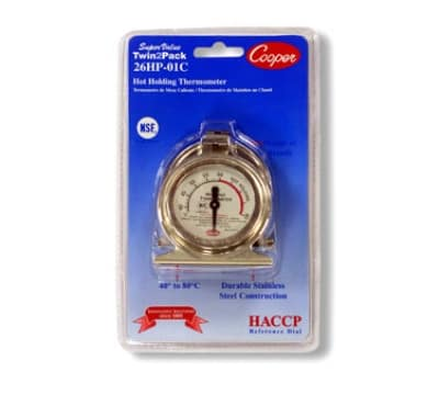 Cooper 26HP-01C-2 2-Proofing Holding Cabinet Thermometer, 40 To 80-Degrees C