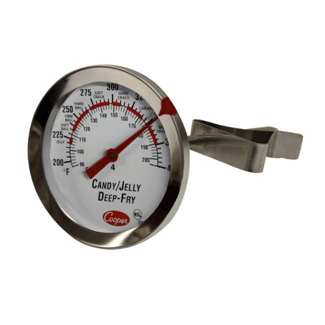 """Cooper 322-01-1 Candy Deep Fry Jelly Thermometer w/ 6"""" Stem, 200 to 400 F"""