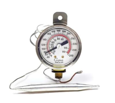 "Cooper 6642-12-3 2"" Panel Type Thermometer, 40 To 240-Degrees F"