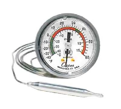 """Cooper 6742-19-3 2"""" Panel Type Thermometer w/ U-Bracket, 40 To 240-Degrees F"""
