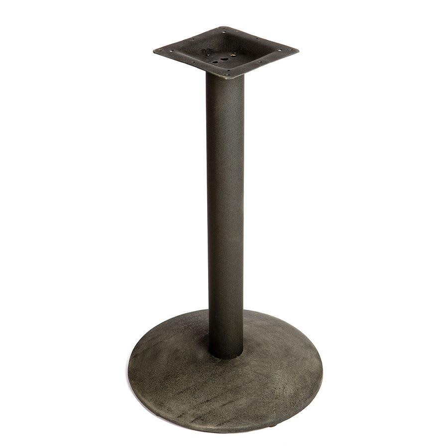 "Oak Street B24DISC-STD 24"" Round Table Base - Dining Height, Cast Iron, Powder Coated, Black"
