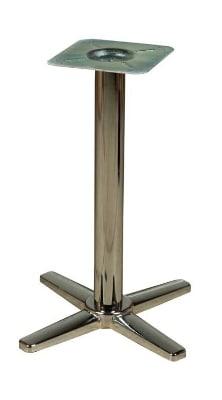 "Oak Street B522CHR-STD Dining Height Table Base w/ 5 x 22"" Base Spread, Chrome"