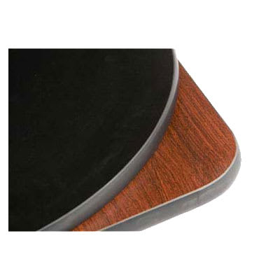 "Oak Street CKTL18R-MB 18"" Round Reversible Cocktail Table Top, Mahogany & Black"