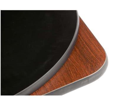 "Oak Street COMBM30R-PUB 30"" Round Pedestal Table - Bar Height, Reversible Mahogany/Black Surface"